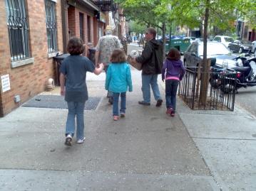 F.L.I.P. 5-9-15 Family walking to Graffiti Church