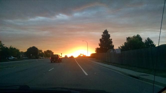 Sunrise Driving Pic 5-9-17 Blog